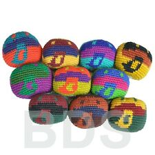Multi Colored Mushroom Stripes Guatemalan Footbag Cotton Hacky Sack New HS19