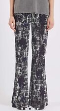 BNWT Topshop Soft Grid Print Monochrome Flared Trousers UK 6 RRP £42 Sold Out