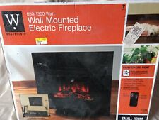 """26"""" Wall Mounted/Free Stand Electric Fireplace 650/1300 Watt W/ Remote & Dimmer"""