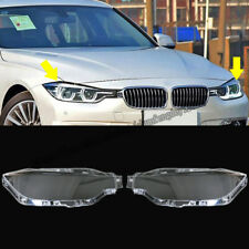 For BMW New 3 Series F30 F35 2016-2018 Headlight Headlamp Lens Cover Right&Left