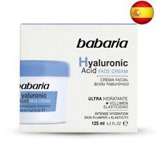 Babaria Hyaluronic Acid Crema Facial Ultrahidratante, 125 ml, Pack de 1