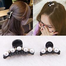 Fille Pince à Cheveux en Plastique Perle Cristal Noir Cheveux Accessoires