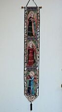 """ANGELIC CONCERTO Tapestry BELL PULL 6.75 x 41"""" Made in USA EUC"""