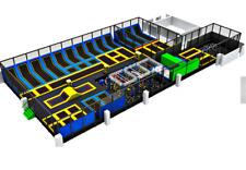 16,000 sqft Turnkey Trampoline Park Dodgeball Gym Inflatable Rock Pit We Finance