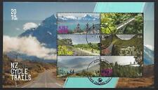 NEW ZEALAND 2018 NZ CYCLE TRAILS MINIATURE SHEET  FINE USED