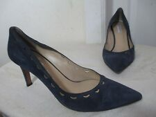 FRATELLI ROSSETTI WOMEN'S NAVY SUEDE PUMPS HEELS MADE IN ITALY SIZE EU 39 US 8.5