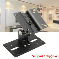 Theater Metal Adjustable Speaker Ceiling Stand Wall Mount Brackets 15kg Load  A