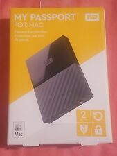 WD My Passport for Mac 2TB - External Portable Hard Drive **NEW**