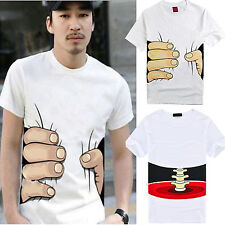NT Men Women Big Hand Printed Funny Catch You Cotton Short Sleeve T-shirt New