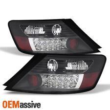 Fits 06-10 Honda Civic 2Dr Couple Dx Ex Lx Si JDM Black LED Tail Lights Lamp Set