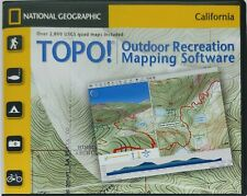 TOPO National Geographic California Seamless USGS Topographic Maps CD-ROM Ver4.2