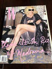 Madonna W Magazine Rio March 2009 Mint Condition