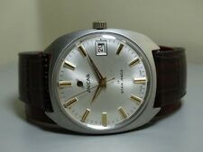 VINTAGE Enicar AUTOMATIC DATE SWISS Mens WRIST WATCH E19 OLD Used ANTIQUE