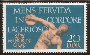 DDR GDR EAST GERMANY 1971 Olympic Games MNH MINT SET COMMUNIST STAMP