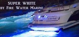 HP+ SUPER WHITE 1700 LUMEN GARBOARD LED BOAT DRAIN PLUG LIGHT UNDERWATER 1/2 NPT