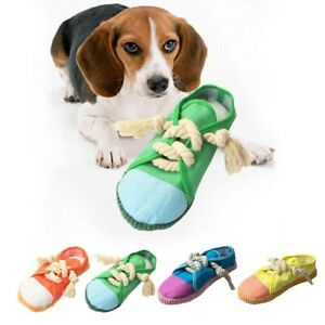 Shoes Chew Pet Toys Clean Tooth Rope Chew Shoes  Rope Squeak Puppy Bite Dog Toy