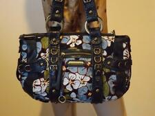 Vintage Isabella Fiore Large Floral Embrodiered Leather Brass Hardware Bag