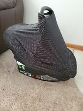 Girls Stretchy Carseat Nursing Cover Black & White Polka Dot  Croc N Frog