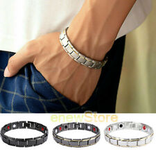 Magnetic Bracelet Steel Energy Therapy Bio Arthritis Pain Relief Mens Women USA