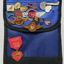 SOUTHWEST AIRLINES SWA Collectible WINGS 10K PINS BADGES & Insulated Thermal Bag