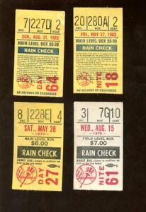 1977/1983 New York Yankees Ticket Stubs 4 Different