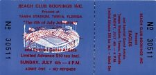 Eagles July 4, 1976 Unused Tampa Concert Ticket / Glen Frey / Don Henley