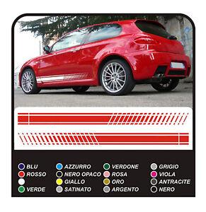 Adesivi per ALFA ROMEO 147 GTA PERSONALIZZATI STRISCE LATERALI PER ALFA ROMEO