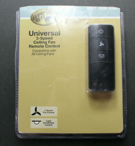 Hampton Bay 1001 309 458 Universal 3-Speed Ceiling Fan Remote Control NEW