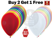 25 X Latex PLAIN BALOON BALLONS helium BALLOONS Quality Party Birthday Colourful