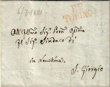6858-REGNO DI SARDEGNA, PREF.,DA TORINO A S. GIORGIO IN LOMELLINA, P.P., 1821