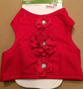 PETCO NEW Cat Feline Red Festive Adjustable Vest ONE SIZE FITS MOST Rhinestones