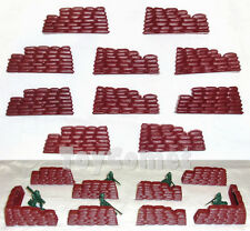 10 pcs Military Sandbags Bunkers Plastic Toy Soldier Army Men Accessories