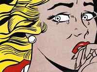 POP ART PRINT Kiss II 1962 by Roy Lichtenstein Offset Lithograph Poster 12x16