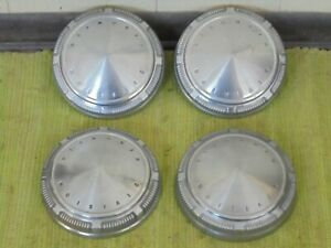 "69 70 71 Plymouth Dog Dish Hub Caps 9"" Set of 4 Stainless Hubcaps 1969 1970 1971"