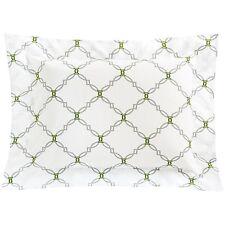 DownTown - Portugal - NWT $60 - Green Geometric Lattice Print 400TC Pillow Sham