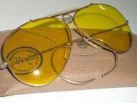 1960's BAUSCH & LOMB RAY-BAN 1/10 12K-GF KALICHROME SHOOTERS AVIATOR SUNGLASSES