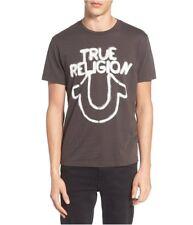 True Religion Mens stencil Horse Shoe Graphic T-Shirt usedblack 2XL