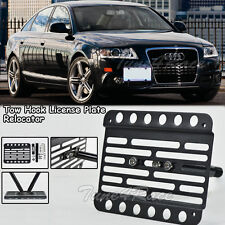 For 04-11 Audi A6 S6 C6 Front Bumper Tow Hook License Plate Relocator Bracket