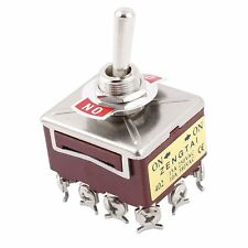 12 Screw Terminals On/On 4PDT Toggle Switch AC15A/250V 10A/380V