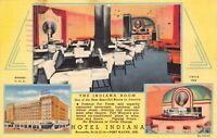 Linen Postcard Multiple Views of Hotel Indiana in Fort Wayne, Indiana~125915