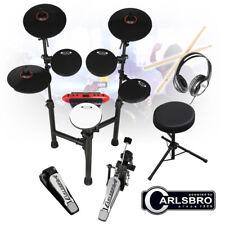 More details for carlsbro csd130 r electronic drum kit 8 piece midi sticks, headphones, stool