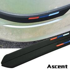Black Rubber Front+Rear Bumper Scratch Protector Strip Corner Guard Sticker 2SET