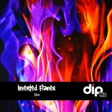 Inverted Flames - Hydrographics Film 50cm - Hydro Dipping FOLDED