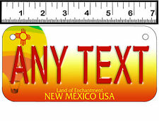 PERSONALIZED ALUMINUM MOTORCYCLE STATE LICENSE PLATE-NEW MEXICO