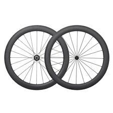 Sapim 56mm Carbon Clincher Wheel Set Powerway R13 UD Matt 27mm wide Rims Basalt