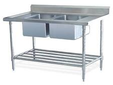 New Double Stainless Steel Commercial Catering Kitchen Sink unit 1200 x 600mm