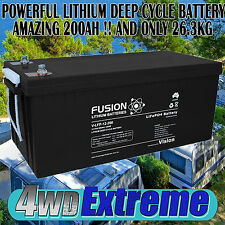 DEEP CYCLE 12VOLT 200AH LITHIUM BATTERY SOLAR CAMPER TRAILER CARAVAN MOTORHOME