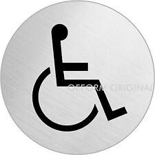 "OFFORM Türschild l Schild l ""Rollstuhl / Behinderten"" l Ø 75 mm l Nr.8486"
