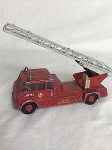 Vintage 1960s Matchbox Merryweather Kent Fire Brigade no 15 Fire Engine GC