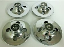 VINTAGE OPEL GT WHEEL CENTER LOT OF FOUR / USED / CHROME PLATED